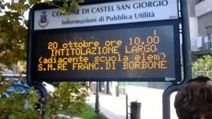 inaugurazione piazza francesco II